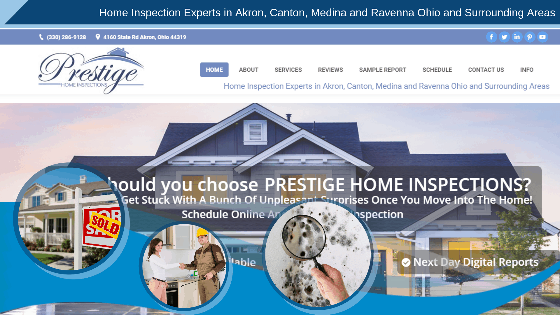 Prestige Home Inspections new launch website
